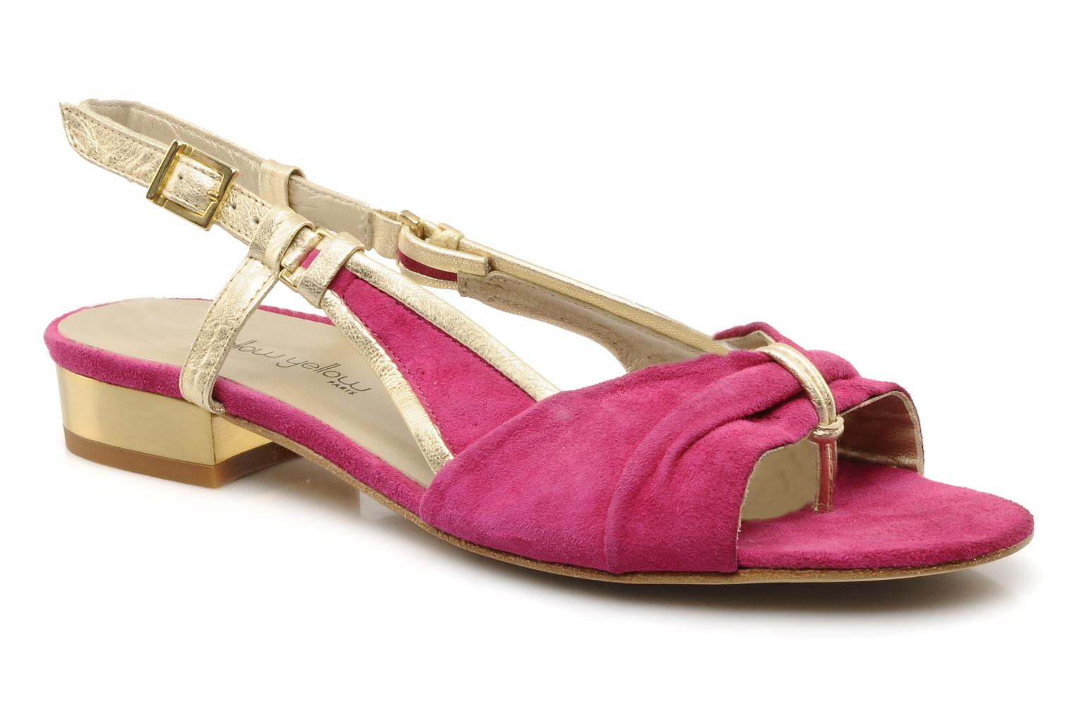 Sandals Mellow Yellow Janette Pink detailed view/ Pair view