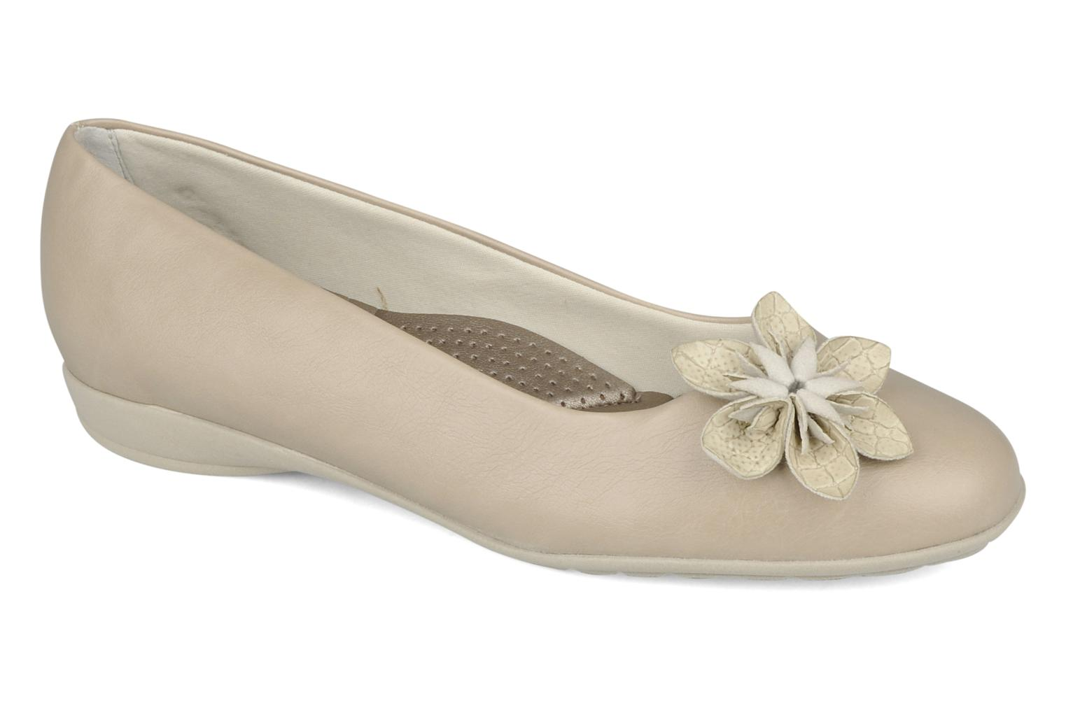 Ballerines Piccadilly Clarence Beige vue détail/paire