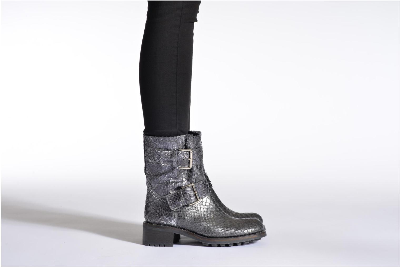 Bottines et boots Free Lance Biker 4 Mini Strap Noir vue bas / vue portée sac