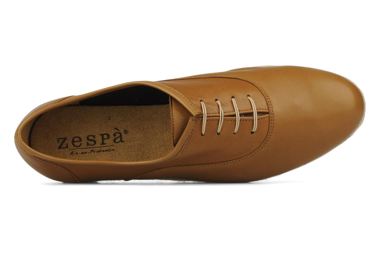 Zapatos con cordones Zespà Salhia Marrón vista lateral izquierda