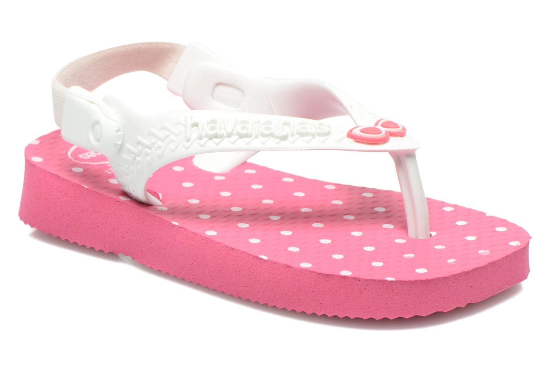 Baby chic Shocking Pink/White