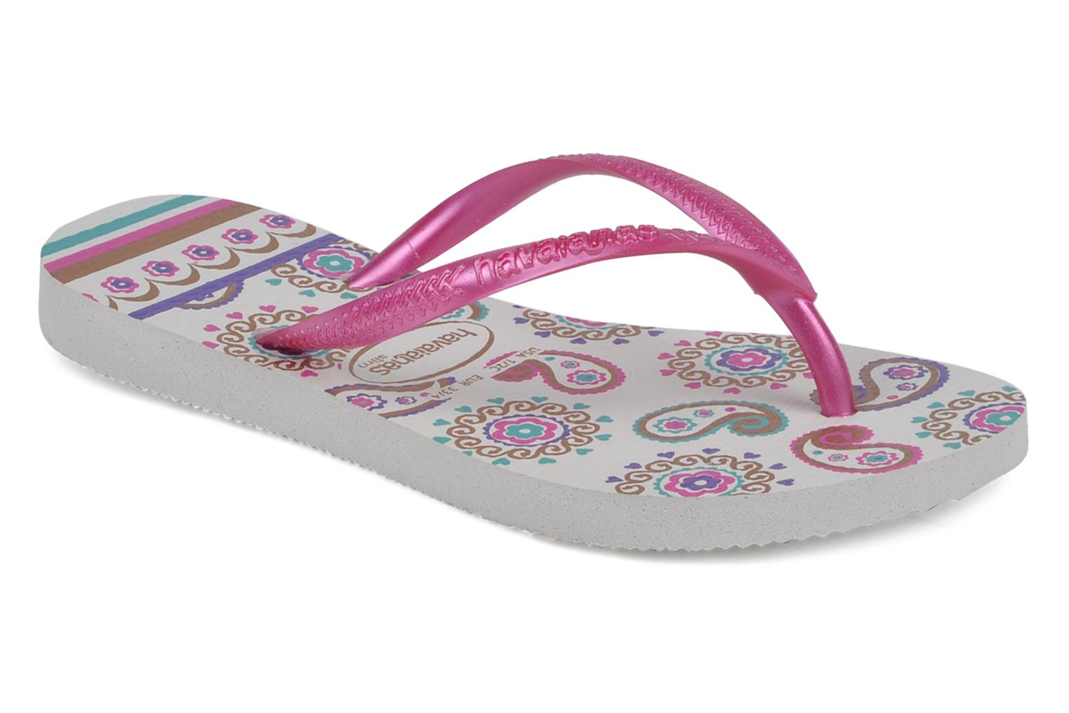 Tongs Havaianas Kids slim garden Multicolore vue détail/paire