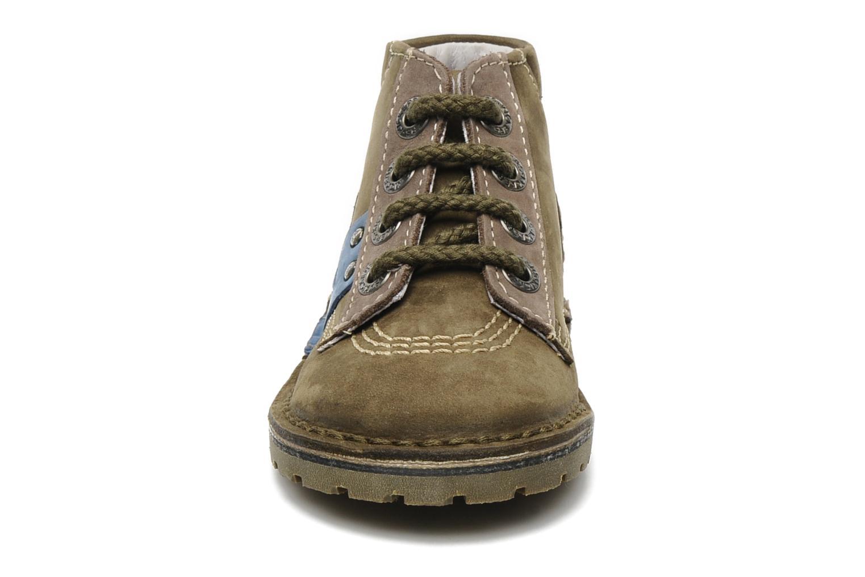 Stiefeletten & Boots Kickers Little grün schuhe getragen