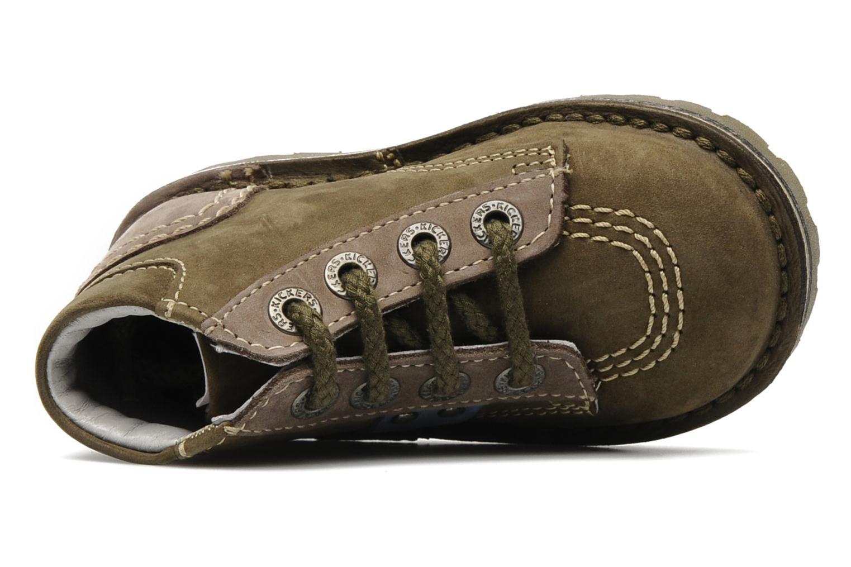 Stiefeletten & Boots Kickers Little grün ansicht von links
