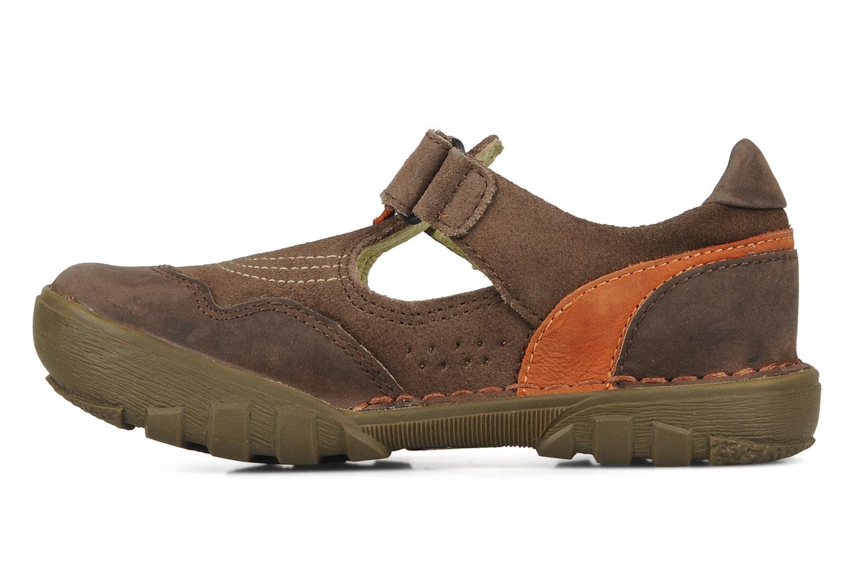 Sandales et nu-pieds Kickers Racky Marron vue face