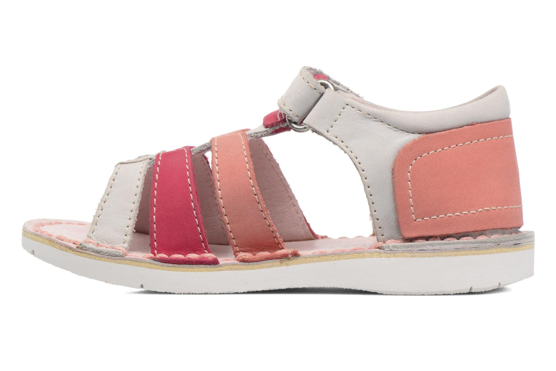 Sandaler Kickers Woopy Pink se forfra