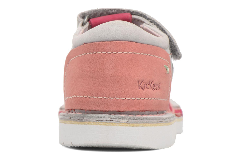 Sandali e scarpe aperte Kickers Woopy Rosa immagine destra