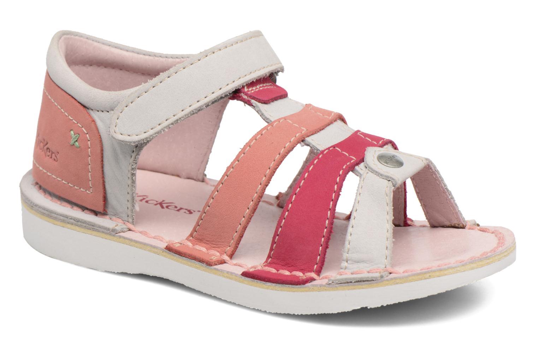 Sandaler Kickers Woopy Pink detaljeret billede af skoene