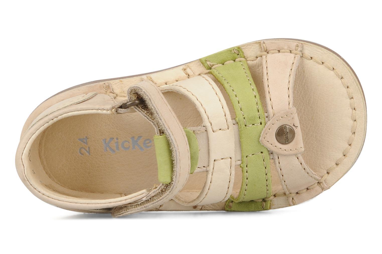 Sandales et nu-pieds Kickers Woopy Beige vue gauche
