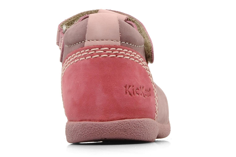 Stiefeletten & Boots Kickers Babyfrench rosa ansicht von rechts