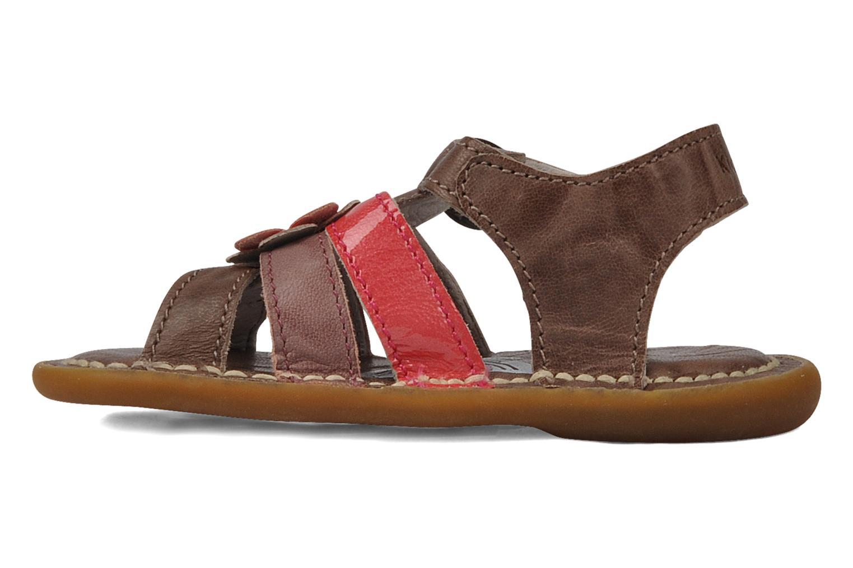 Sandales et nu-pieds Kickers Milki Marron vue face