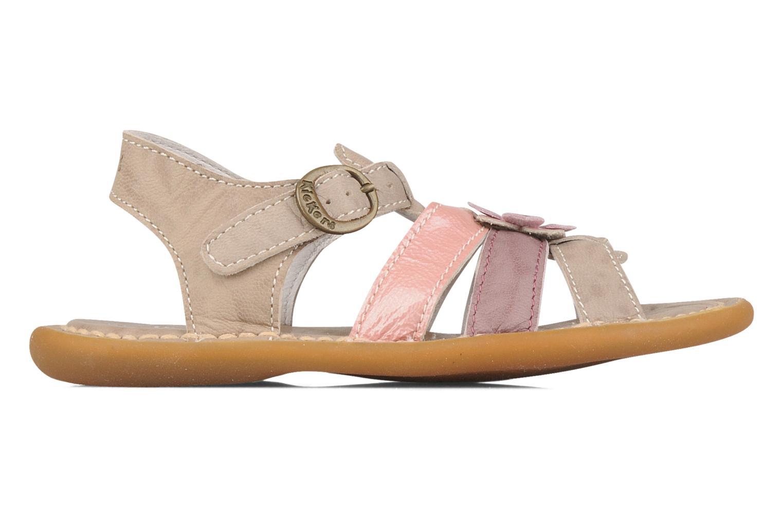 Sandales et nu-pieds Kickers Milki Beige vue derrière