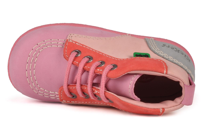 Stiefeletten & Boots Kickers Babystart rosa ansicht von links