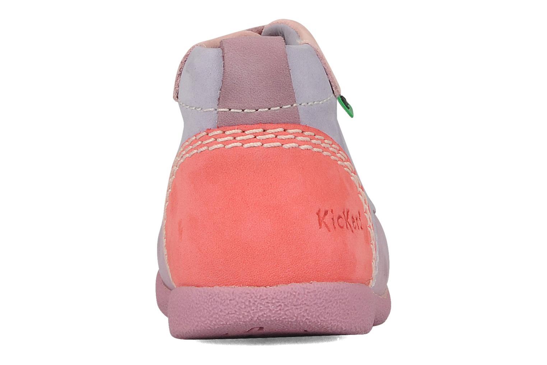 Stiefeletten & Boots Kickers Babystart lila ansicht von rechts