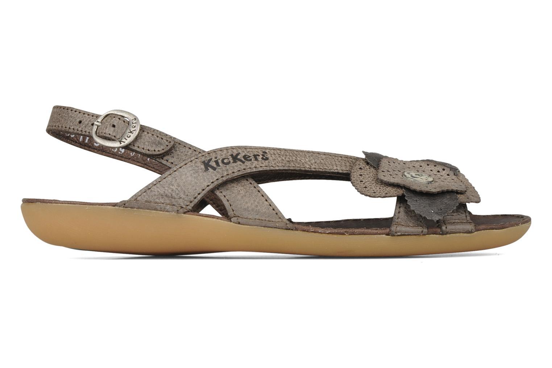 Sandales et nu-pieds Kickers Expedito Marron vue derrière
