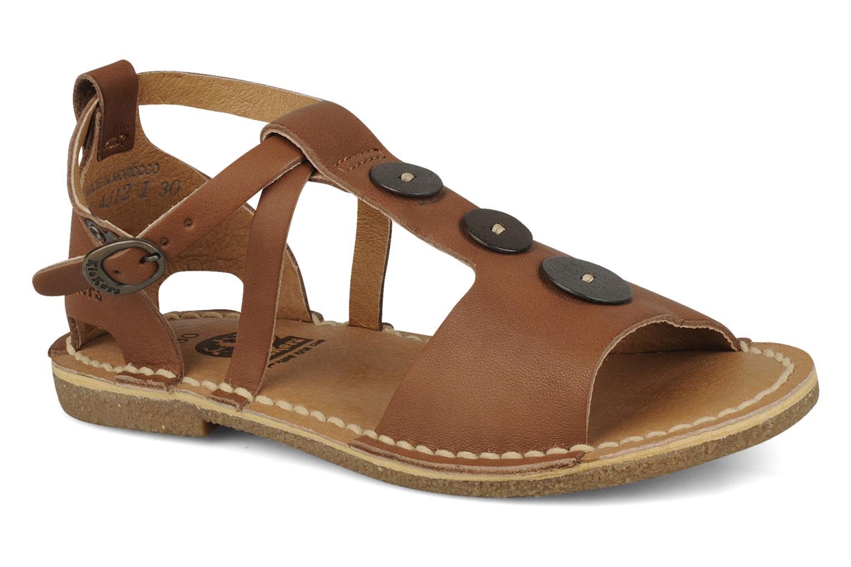 Sandales et nu-pieds Kickers Faiko Marron vue détail/paire