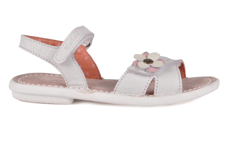 Sandales et nu-pieds Kickers Monday Blanc vue derrière