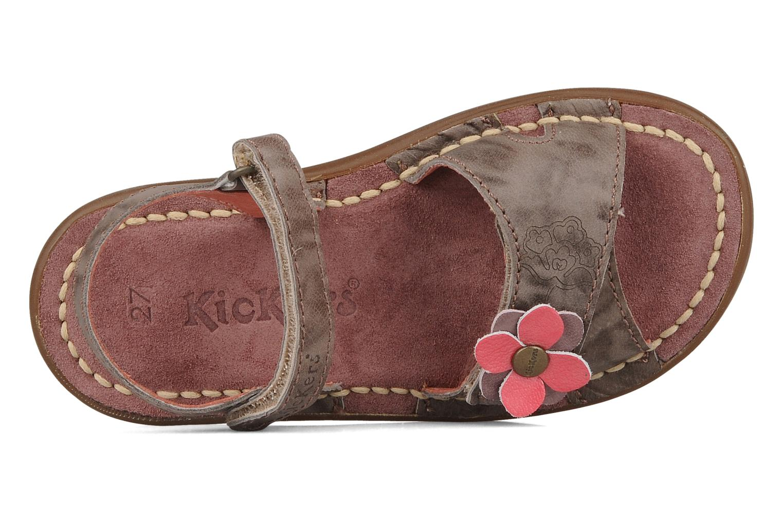 Sandales et nu-pieds Kickers Monday Marron vue gauche