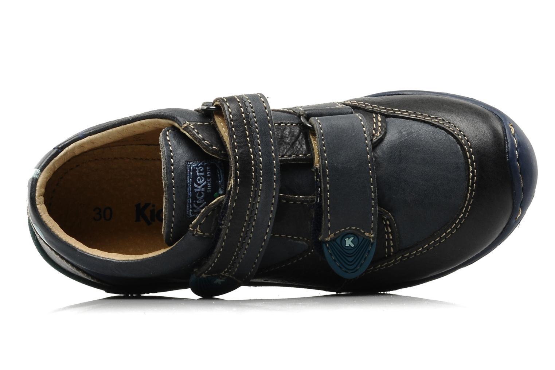 Schoenen met klitteband Kickers Spred Blauw links