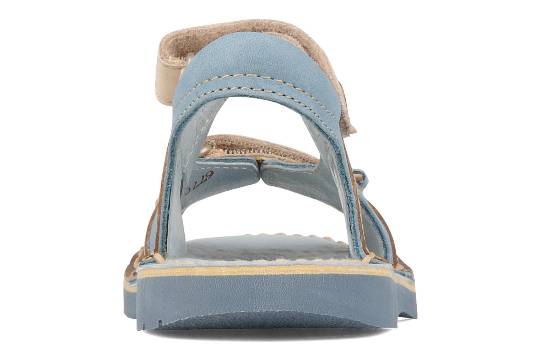 Sandales et nu-pieds Kickers Woaza Bleu vue droite