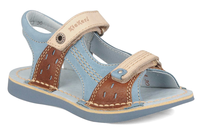 Sandales et nu-pieds Kickers Woaza Bleu vue détail/paire