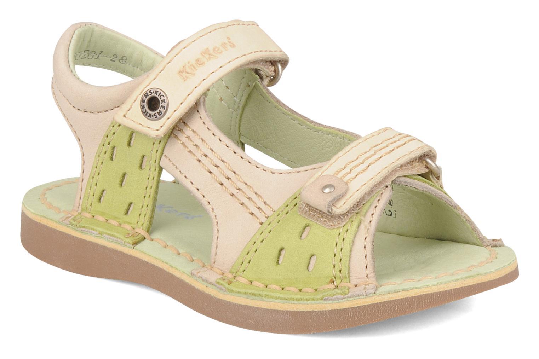Sandales et nu-pieds Kickers Woaza Vert vue détail/paire