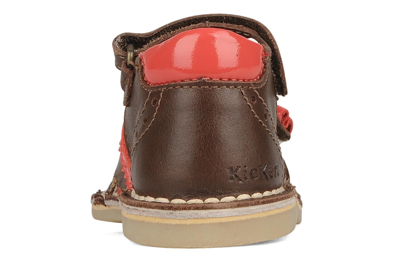 Sandales et nu-pieds Kickers Colombe B Marron vue droite