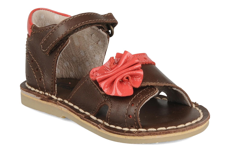 Sandales et nu-pieds Kickers Colombe B Marron vue détail/paire