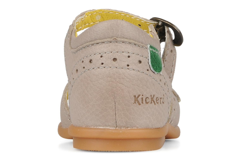 Sandales et nu-pieds Kickers Stella Gris vue droite