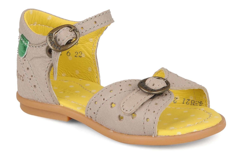 Sandales et nu-pieds Kickers Stella Gris vue détail/paire