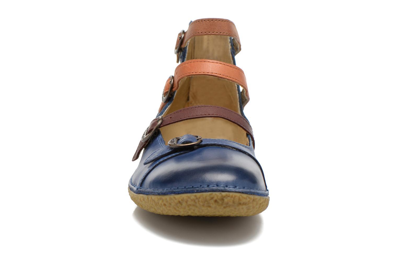 Ballerines Kickers Honore Bleu vue portées chaussures
