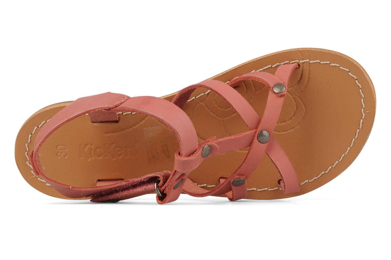Sandales et nu-pieds Kickers Dialecta Rose vue gauche