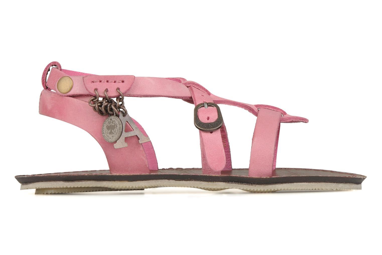 Sandalen Kickers Lioumi rosa ansicht von hinten