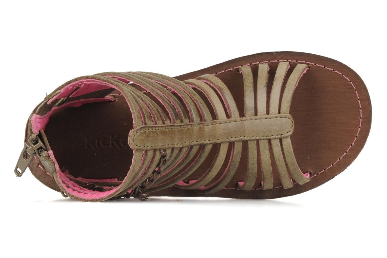 Sandales et nu-pieds Kickers Lilou Vert vue gauche