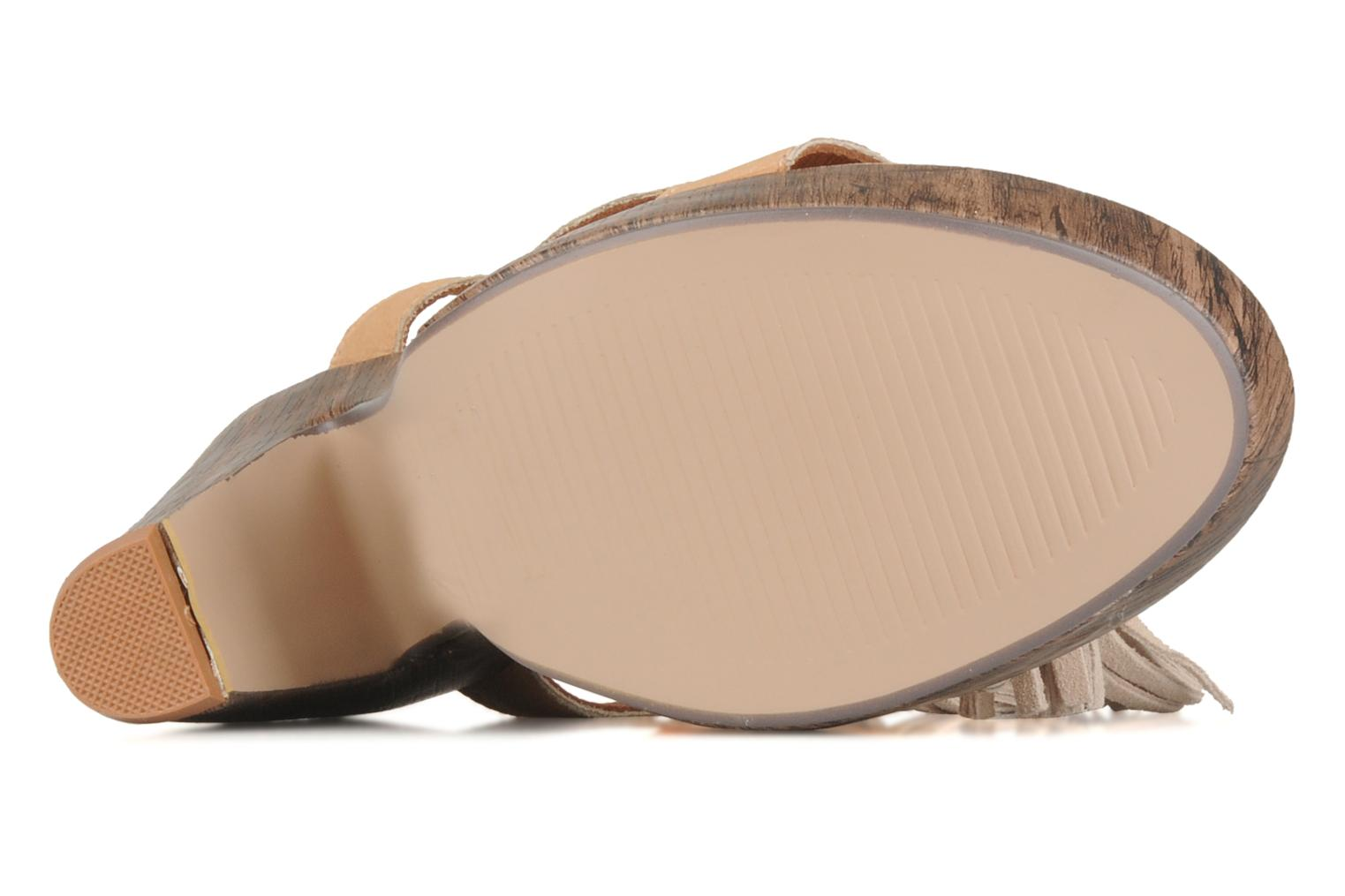 Sandals Friis & company Zenika Beige view from above