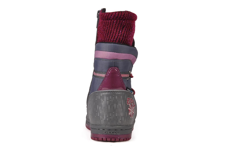 Bottines et boots Geox J glitter wp b Gris vue droite