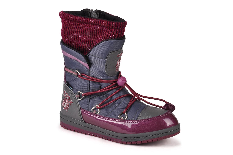 Bottines et boots Geox J glitter wp b Gris vue détail/paire