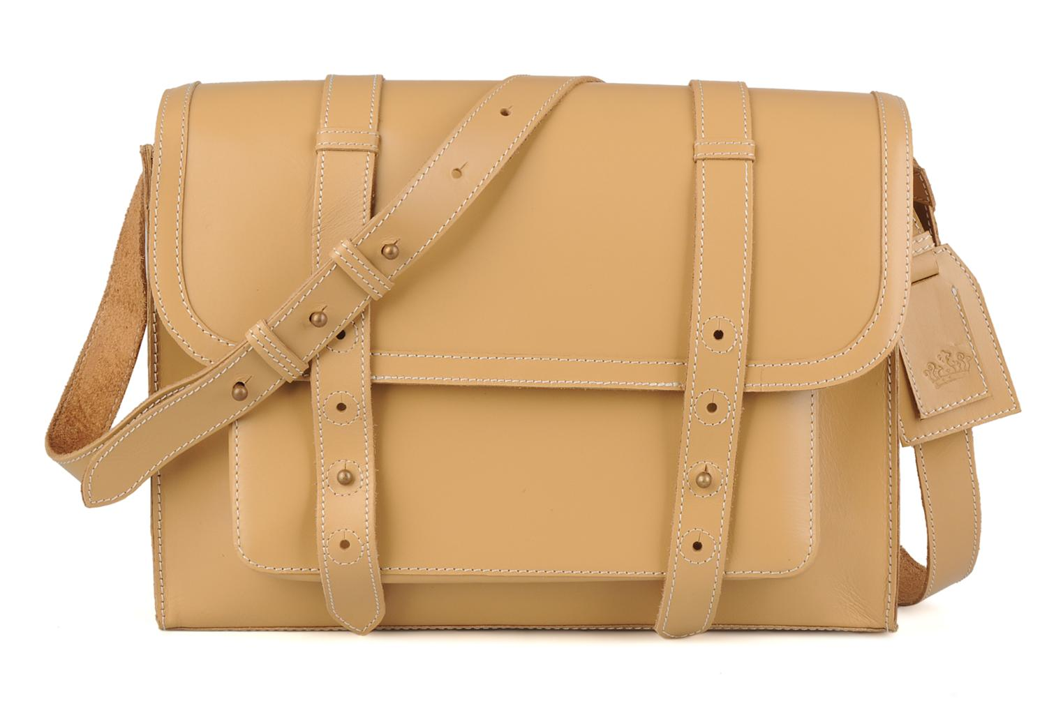 Fold leather bag Nude