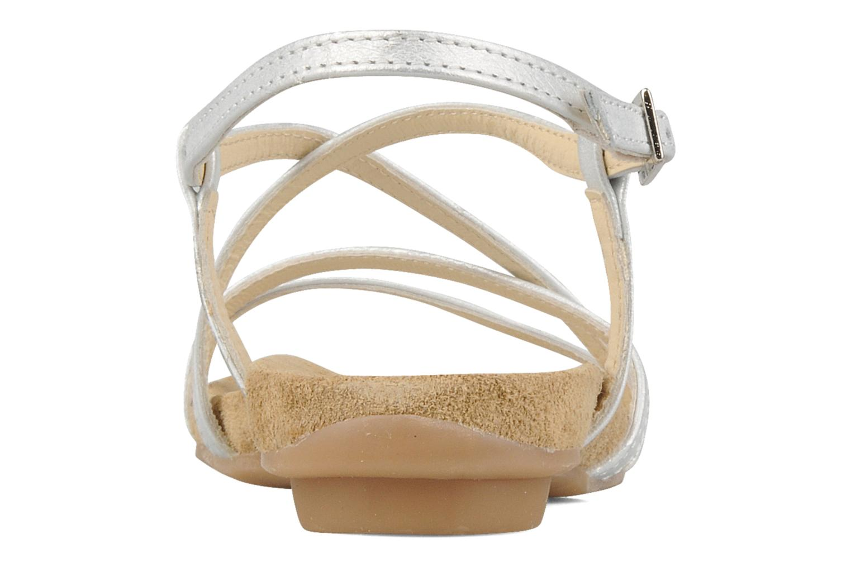 Sandalen Perlato Izalik silber ansicht von rechts