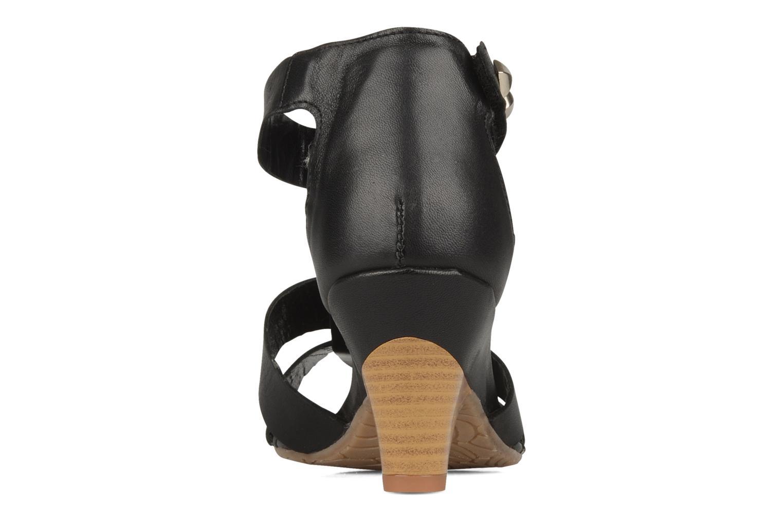 Sandales et nu-pieds Perlato Kusmi Noir vue droite