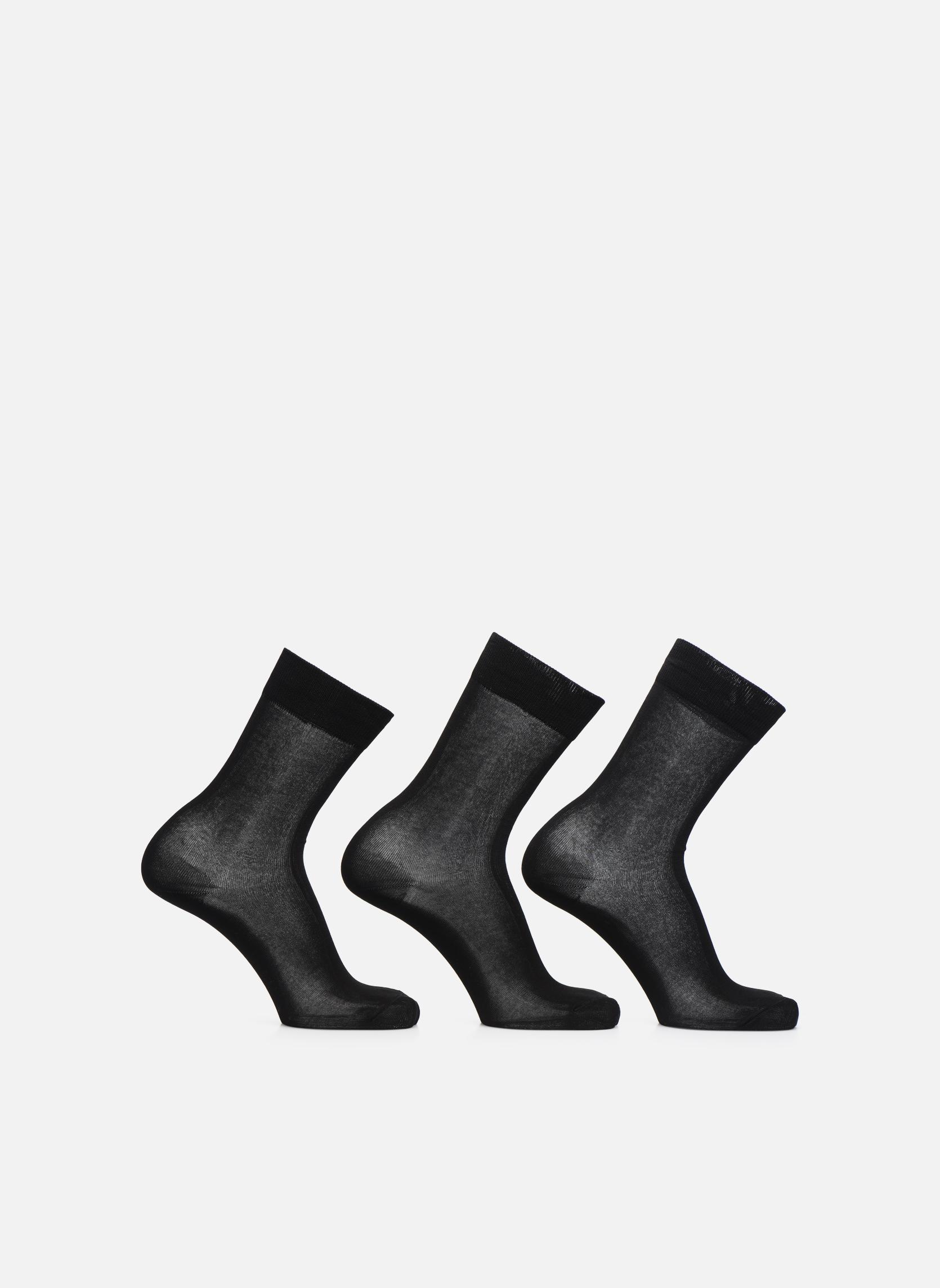 Chaussettes et collants Sarenza Wear Chaussettes Homme Fil d'Ecosse unies Noir vue détail/paire
