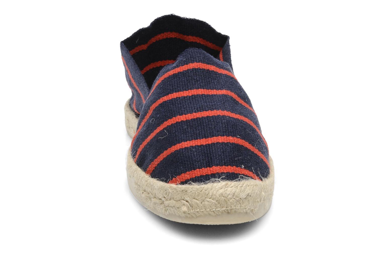 Espadrilles La maison de l'espadrille Sabline Rayure F Multicolore vue portées chaussures