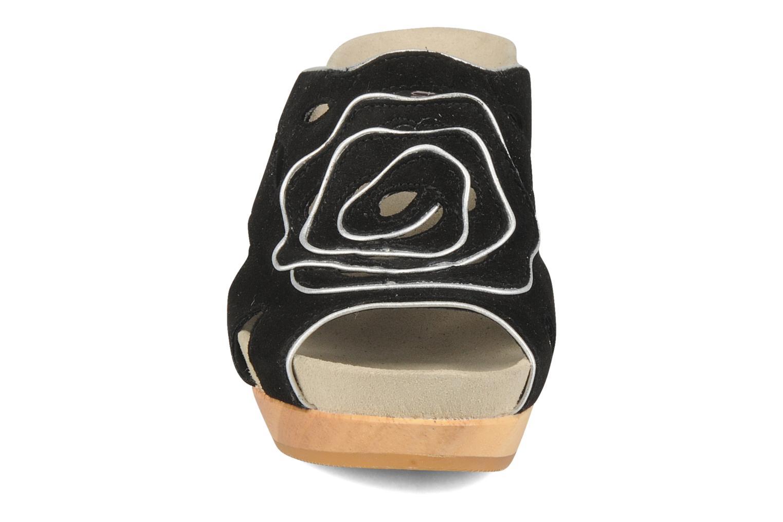 Mules et sabots Kalso Earth Tropez Noir vue portées chaussures