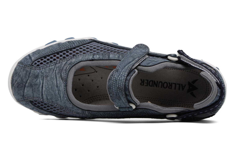 Zapatillas de deporte Allrounder by Mephisto Niro Azul vista lateral izquierda