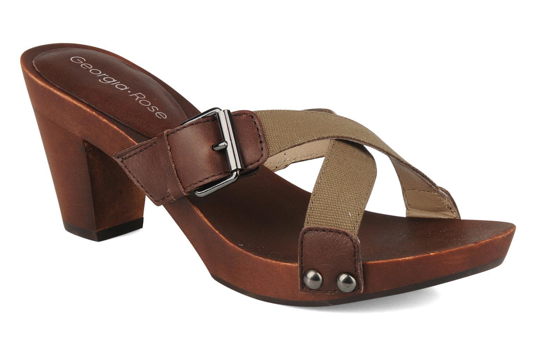 Clogs og træsko Georgia Rose Cheerie Brun detaljeret billede af skoene