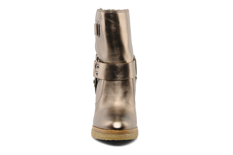 Bottines et boots Belle Tahira Or et bronze vue portées chaussures