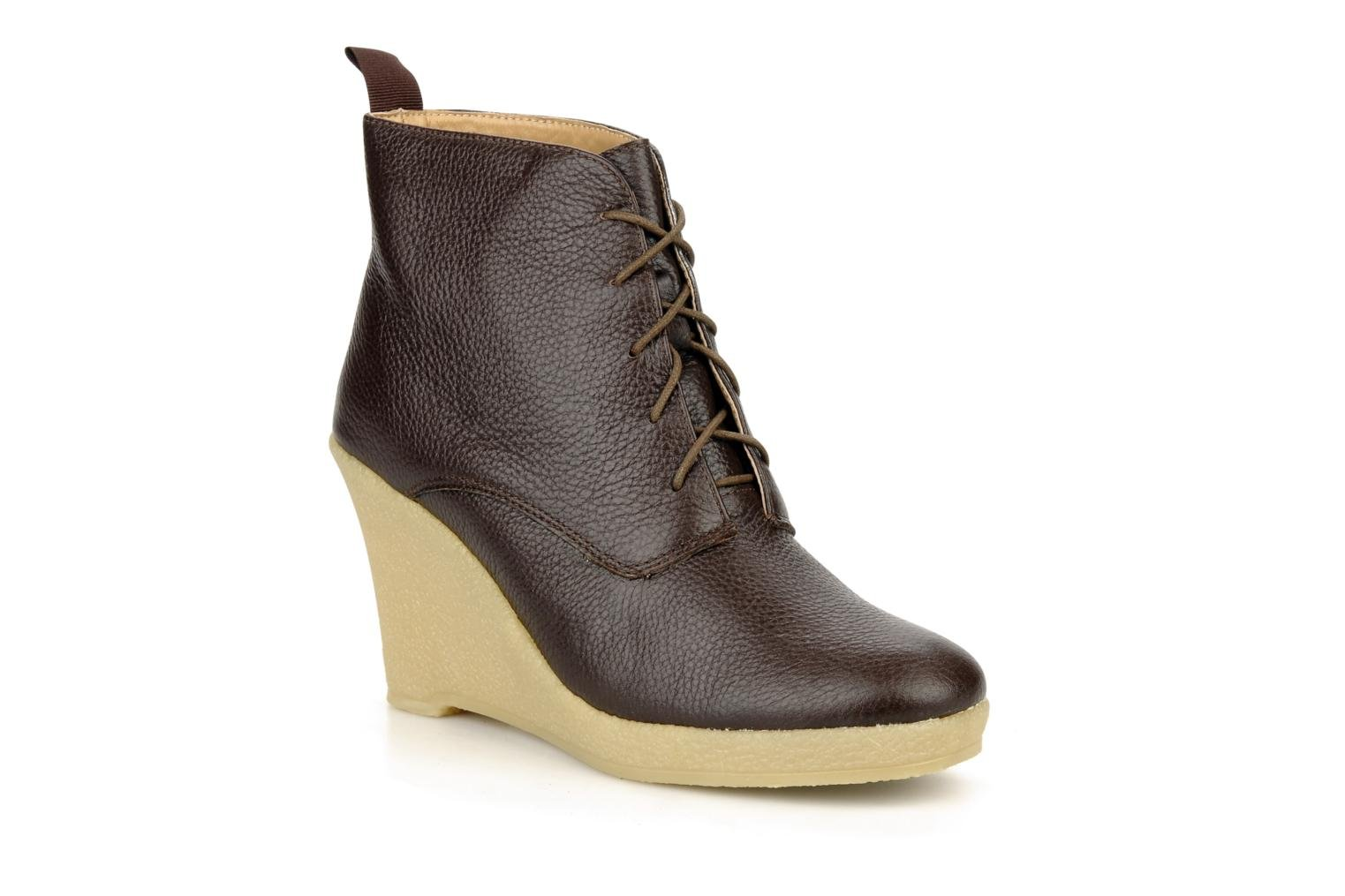 Ankle boots Mellow Yellow Koala Brown detailed view/ Pair view