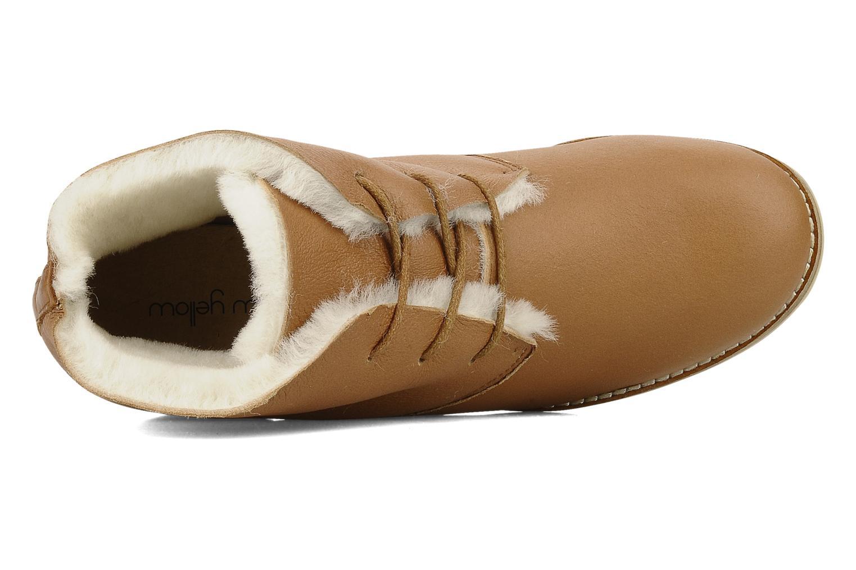 Snörade skor Mellow Yellow Kolchic Brun bild från vänster sidan