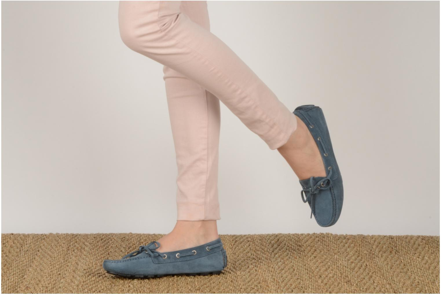 Loafers Georgia Rose Vinelle Blue view from underneath / model view