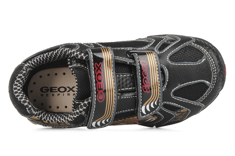 Sneakers Geox B nleclipb a Zwart links